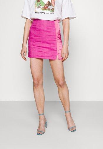 LINEN MINI  - Mini skirt - pink