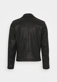 Abercrombie & Fitch - BIKER - Faux leather jacket - black - 1