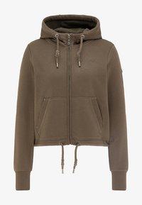 DreiMaster - Zip-up sweatshirt - militäroliv - 4