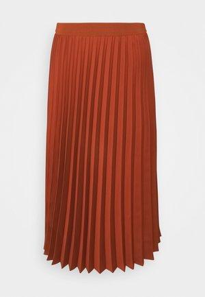 SKIRT MIDI - Áčková sukně - terracotta