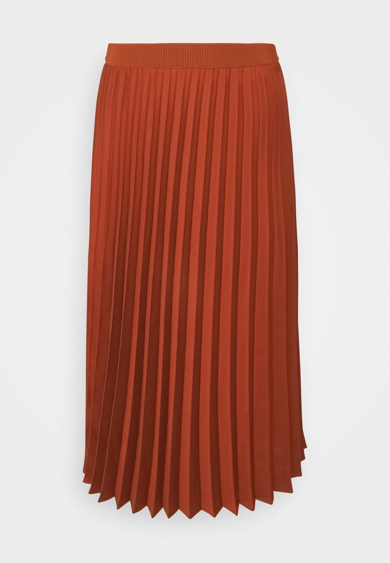 More & More - SKIRT MIDI - A-line skirt - terracotta