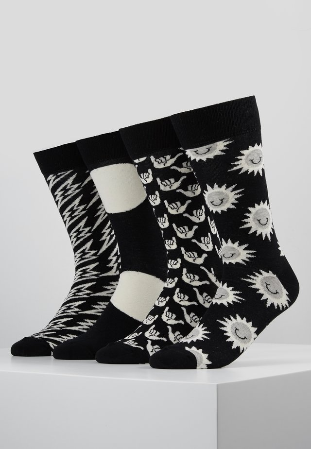 GIFT BOX 4 PACK - Chaussettes - black/white