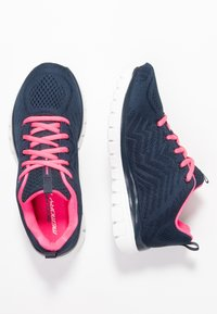 Skechers Sport - GRACEFUL - Trainers - navy/hot pink - 3