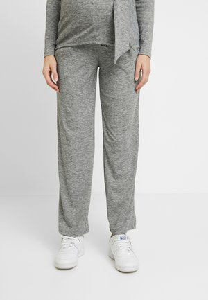 MLEVITA PANT - Tracksuit bottoms - medium grey melange
