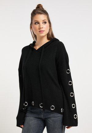 Jersey con capucha - schwarz