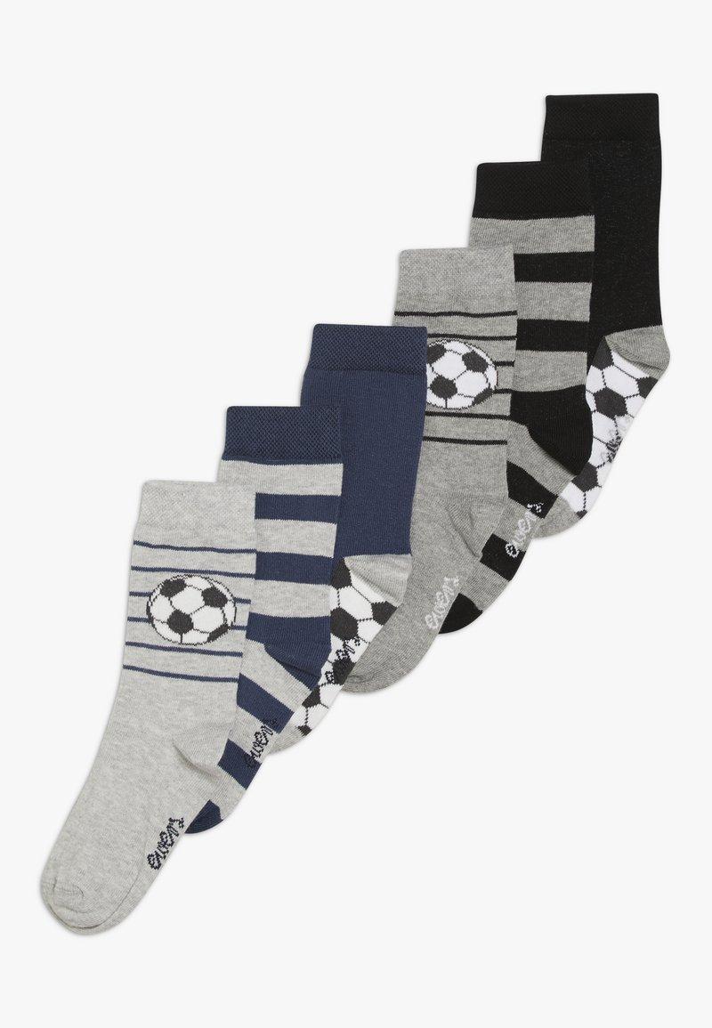 Ewers - FUSSBALL RINGEL 6 PACK  - Ponožky - schwarz/tinte
