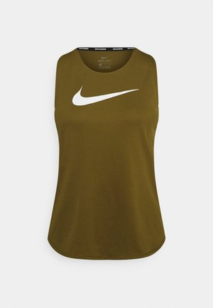 RUN TANK - Sports shirt - olive flak/white