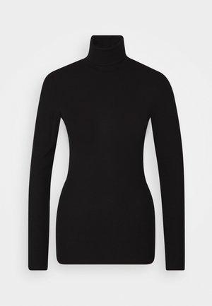 TURTLE NECK LONGSLEEVE - Long sleeved top - pure black
