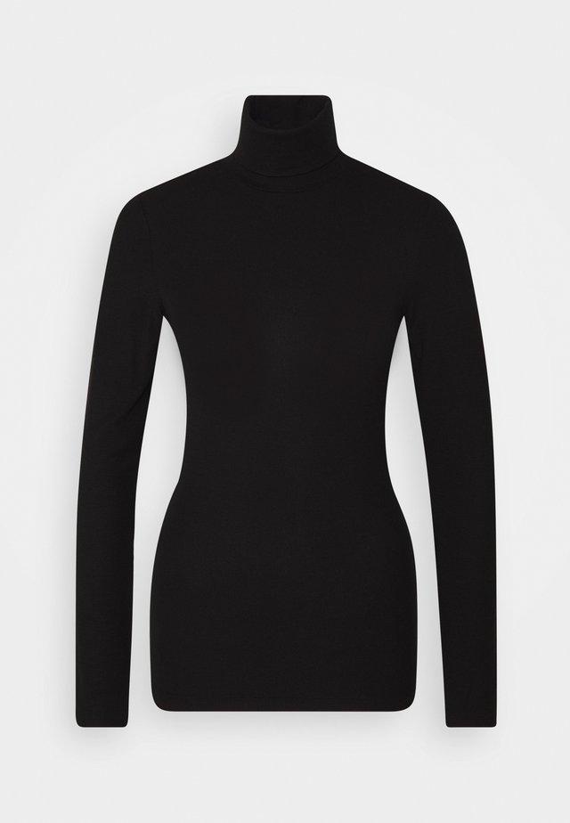 TURTLE NECK LONGSLEEVE - Långärmad tröja - pure black