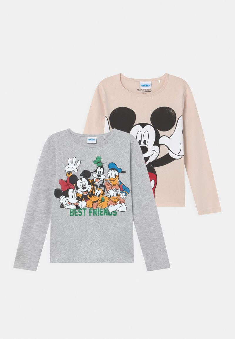 Staccato - DISNEY MICKEY MOUSE & FRIENDS UNISEX 2 PACK - Maglietta a manica lunga - beige/mottled grey