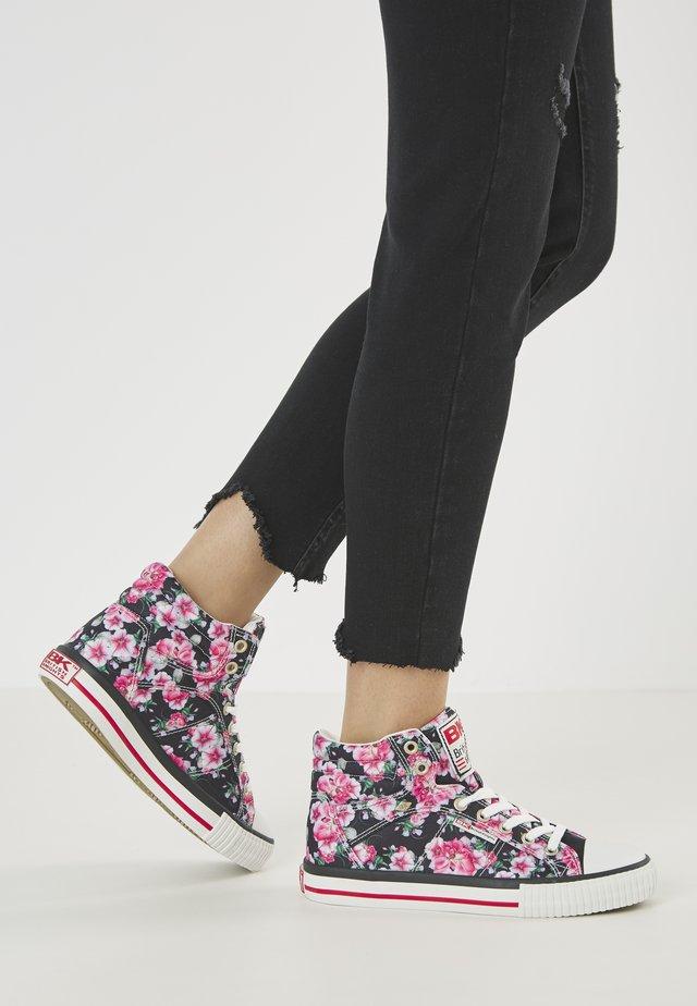 DEE - Baskets montantes - black flower