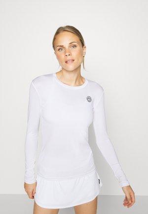 PIA TECH ROUNDNECK LONGSLEEVE - T-shirt sportiva - white