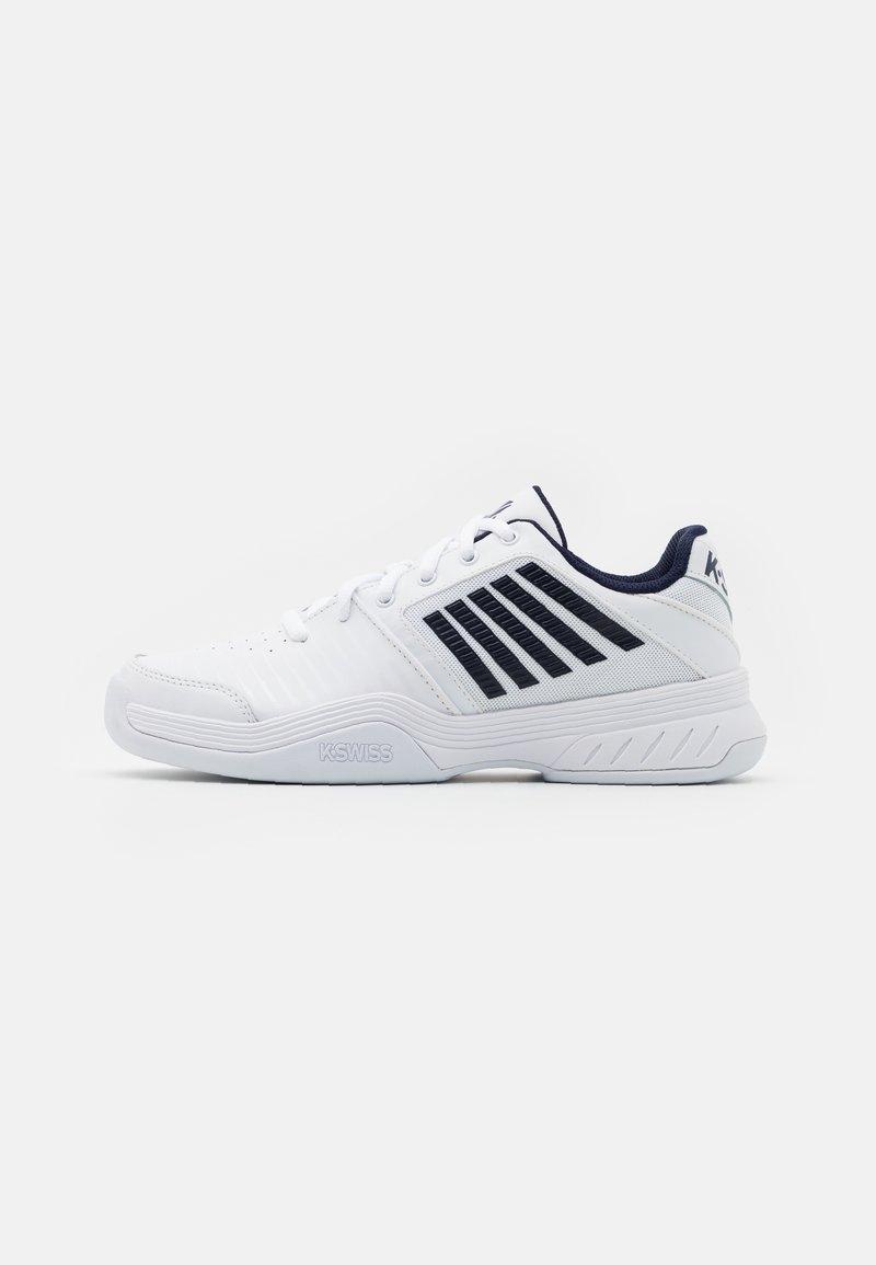 K-SWISS - COURT EXPRESS CARPET - Carpet court tennis shoes - white/navy