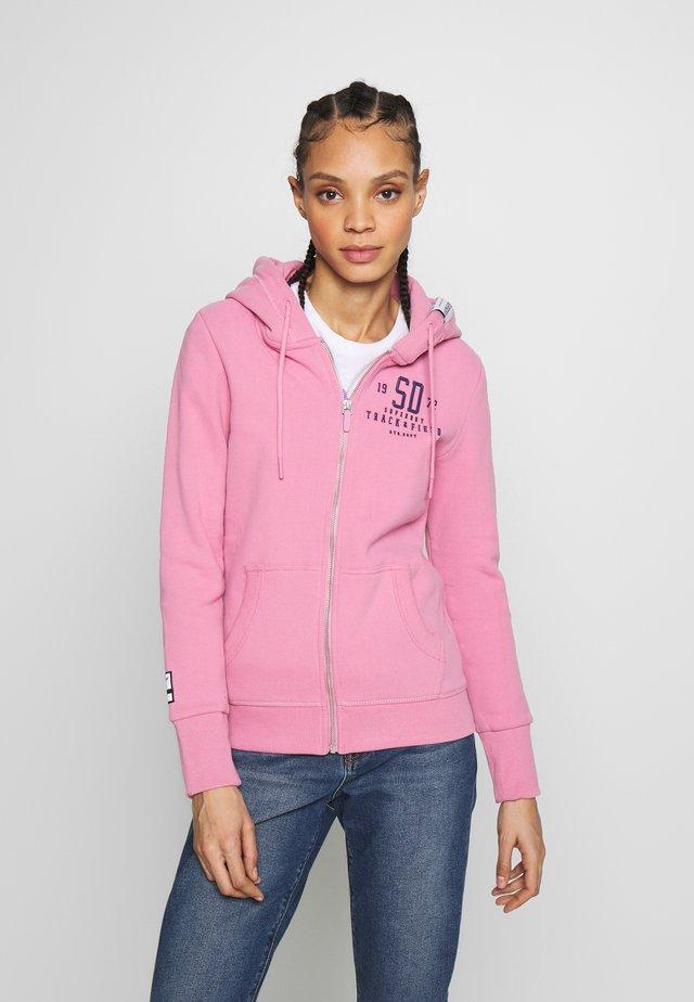 TRACK FIELD ZIPHOOD - Zip-up hoodie - punch pink