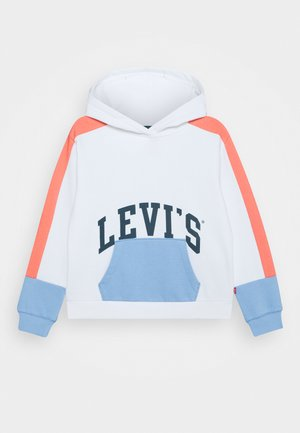COLOR BLOCK HOODIE - Sweat à capuche - white