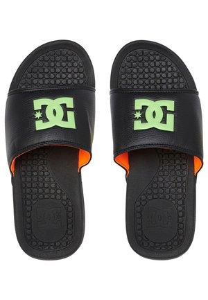 Pool slides - black/green/orange