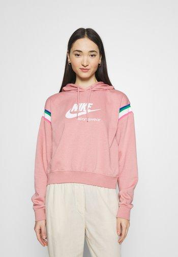 HOODIE - Hoodie - rust pink/white