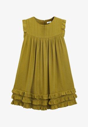RUFFLE  - Jersey dress - olive