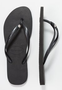 Havaianas - SLIM FIT CRYSTAL GLAMOUR - Boty do bazénu - black - 0