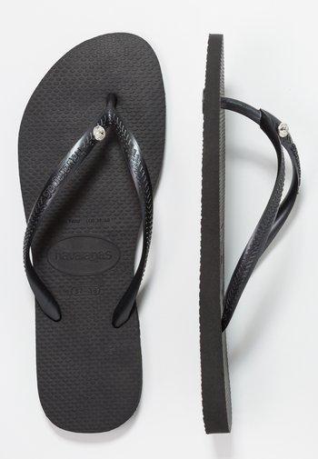 SLIM FIT CRYSTAL GLAMOUR - Pool shoes - black