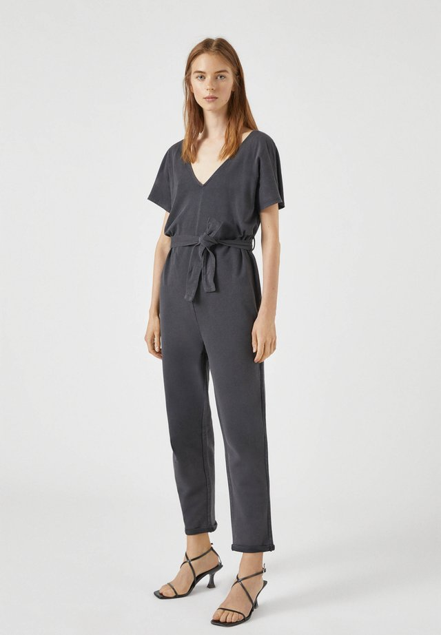 Tuta jumpsuit - mottled black