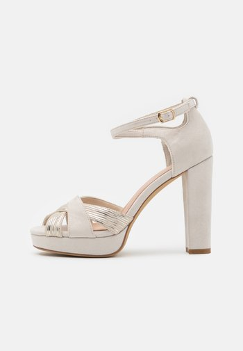 High heeled sandals - offwhite