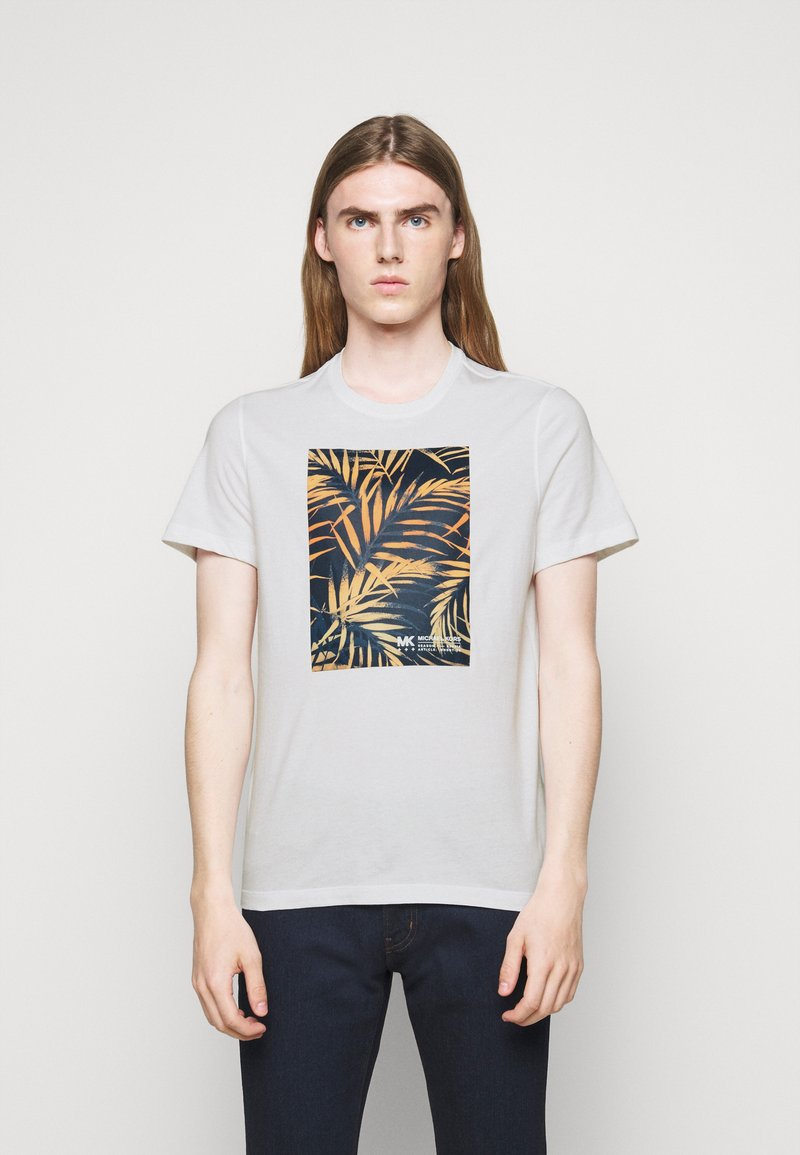 Michael Kors - PALM BLOCK TEE - Print T-shirt - midnight