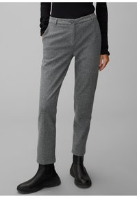Marc O'Polo - MIT FISCHGRAT-MUSTER - Trousers - multi/black - 0