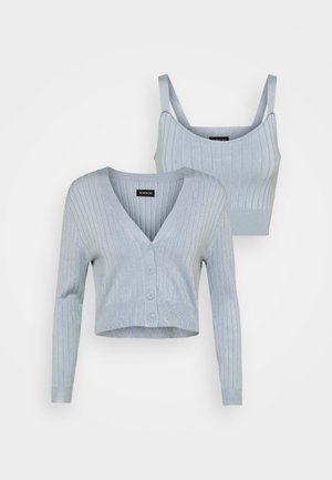 SET- CARDIGAN & TOP - Débardeur - blue