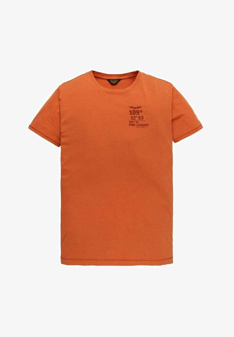 PME Legend - SHORT SLEEVE - Print T-shirt - orange