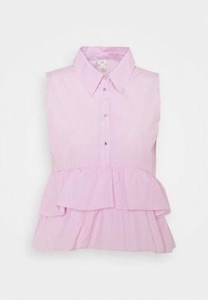 LAYER SMOCK SHIRT - Button-down blouse - pink light