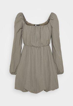 PETITE RUCHED PUFF BALL DRESS - Korte jurk - charcoal