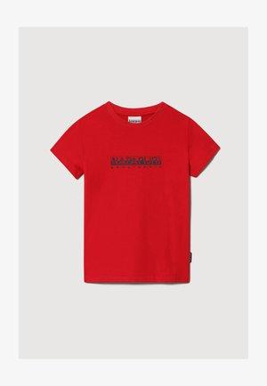 S-BOX - T-shirt print - red tango