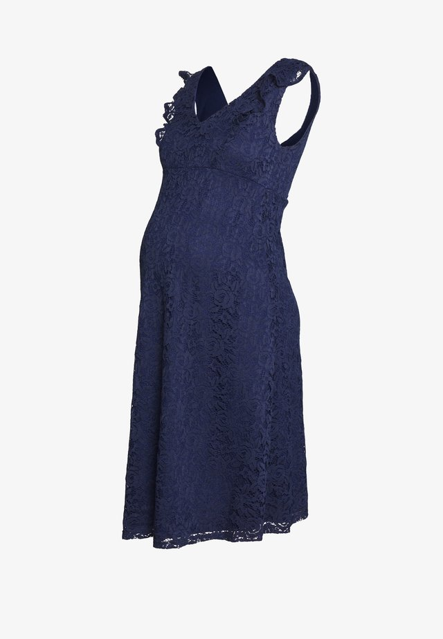 OCCASION FIT AND FLARE DRESS - Vestito elegante - navy