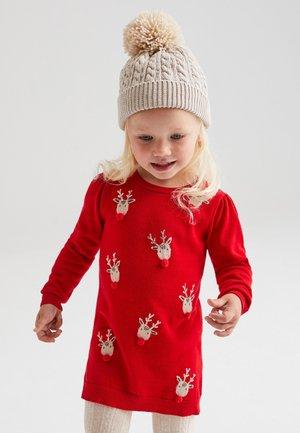 CHRISTMAS REINDEER  - Neulemekko - red