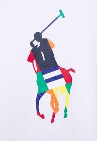 Polo Ralph Lauren - CUSTOM SLIM FIT BIG PONY JERSEY T-SHIRT - Print T-shirt - white - 2