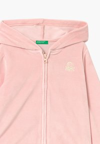 Benetton - HOOD  - Mikina na zip - pink - 2