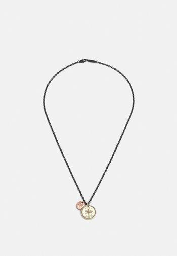 DOUBLE CHARM PALM NECKLACE - Necklace - copper