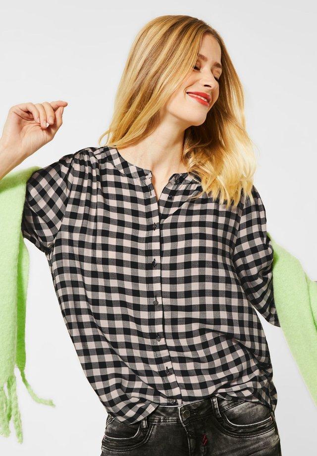 MIT SMOK-DETAIL - Bluse - schwarz
