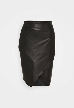 SLIT SKIRT - Pencil skirt - nero