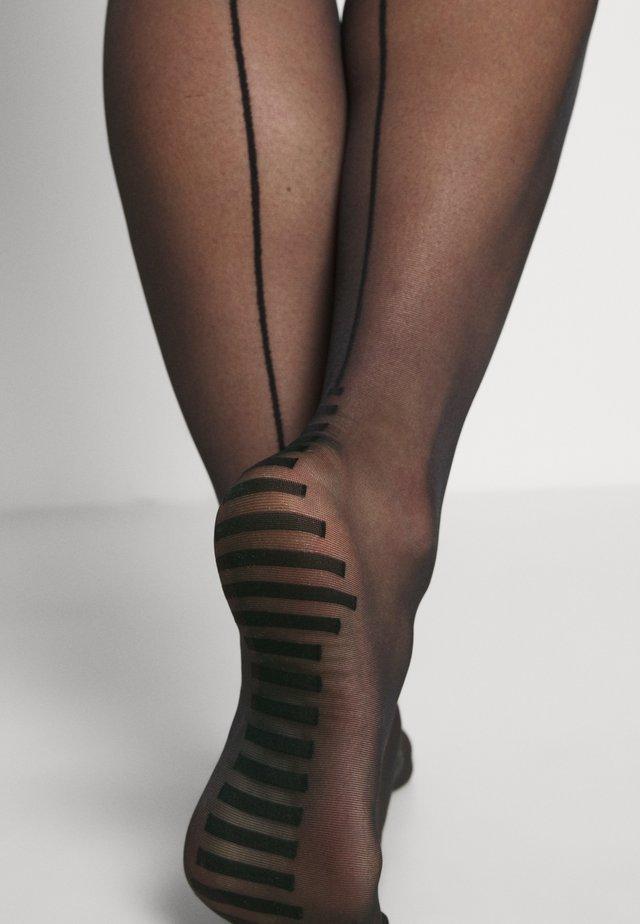 CHAUSSETTES BASICS STAY-UP MIT ZIERNAHT UND SCHNÜRUNG - Over-the-knee socks - schwarz