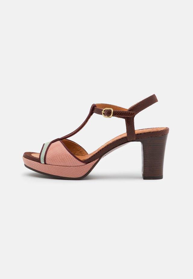 NATI - Sandały na platformie - salvia/castano/powder