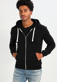 YOURTURN - Zip-up hoodie - black - 0