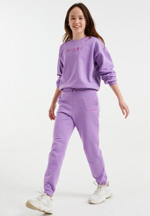 MET OPDRUK - Teplákové kalhoty - purple