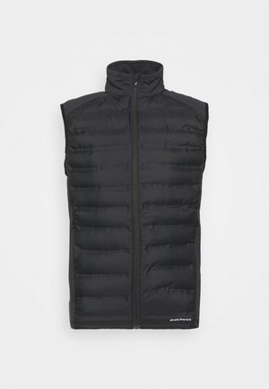 MIDAN HOT FUSED HYBRID VEST - Waistcoat - black