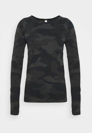 MOMENTUM CAMO - T-shirt à manches longues - black