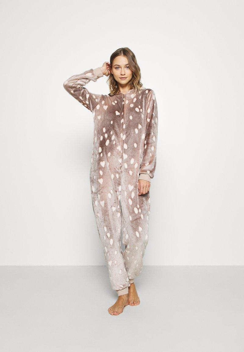 Loungeable - REINDEER LUXURY ONESIE ANTLER - Pyjama - brown