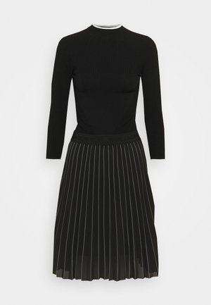 KNITWEAR DRESS - Jumper dress - black