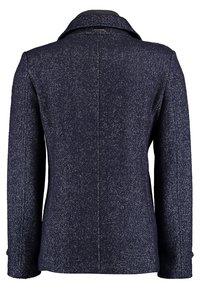 DNR Jackets - MIT DOPPELTER KNOPFLEISTE UND STEHKRAGEN - Light jacket - mottled dark blue - 1