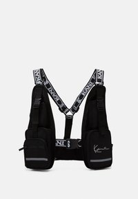 Karl Kani - TAPE UTILITY VEST BAG - Across body bag - black - 0